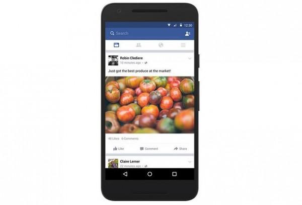 обновление facebook