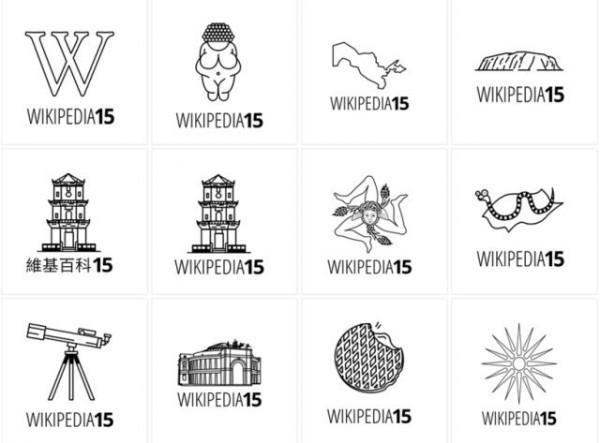новые логотипы Википедии