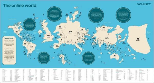 карта доменных зон