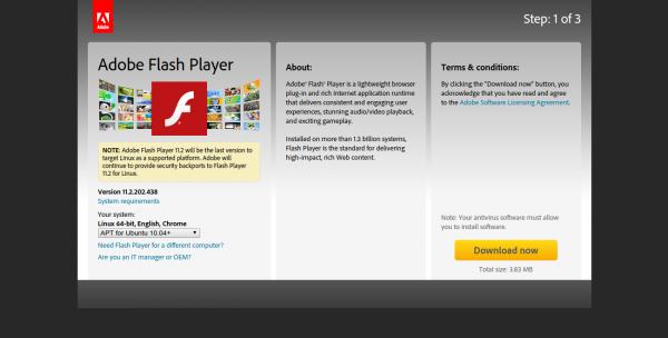 обновление adobe flash