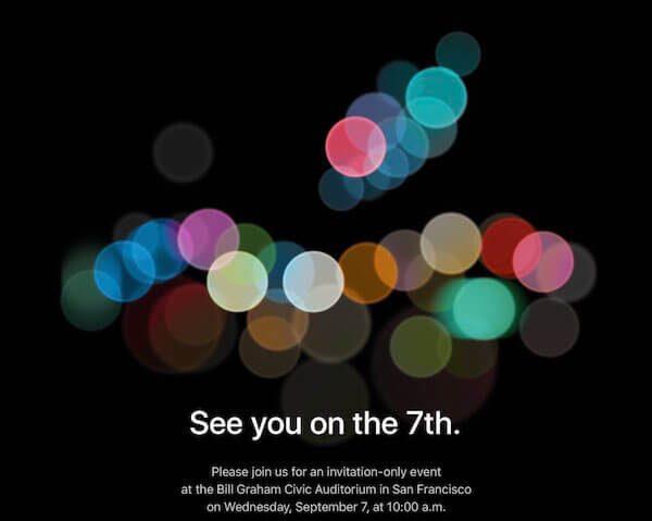 Apple назначили дату презентации айфон 7