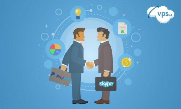сотрудничество skype и paypal