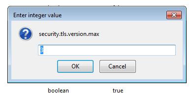 Настройка значений протокола TLS в Firefox