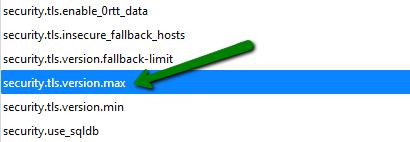 Как включить поддержку TLS 1.3 в Firefox