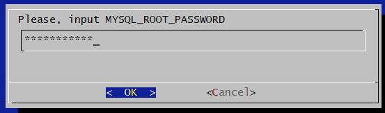 Ввод рутового пароля на машину