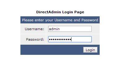 Авторизация в DirectAdmin