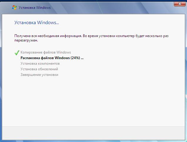 Процесс установки Windows на облачный VPS