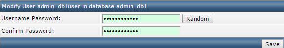 Ввод нового пароля к базе данных