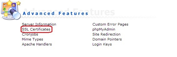Установка SSL сертификата в DirectAdmin