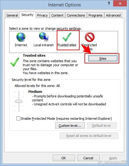 Настройки безопасности (вкладка Security)