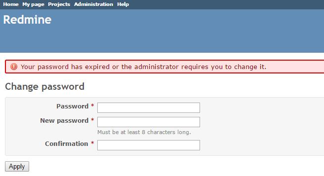 Системное сообщение о смене пароля