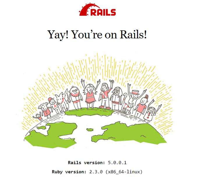 Сообщение успешной установки Ruby on Rails