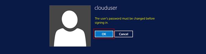 Ввод нового пароля для пользователя clouduser