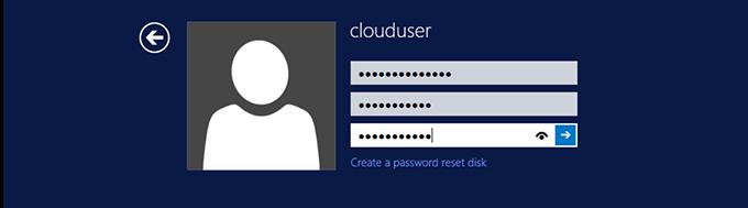 Подтверждение нового пароля для пользователя clouduser
