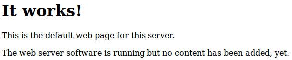 Тестовая страница Apache в Debian, Ubuntu