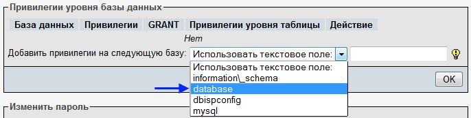 Привилегии уровня базы данных