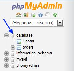 Список существующих на сервере баз данных