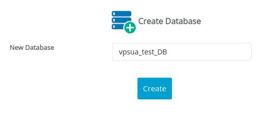 Создание новой базы данных MySQL в Webuzo