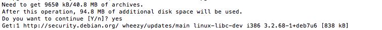 Подтверждение использования места на диске