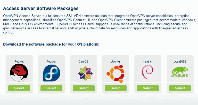 Установка OpenVPN-Access Server