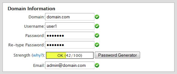 Domain Information в cPanel