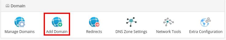Добавление домена в Webuzo