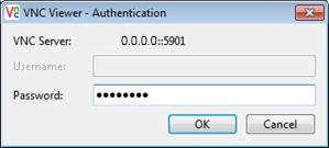 Ввод пароля в RealVNC