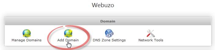 Как добавить домен в Webuzo
