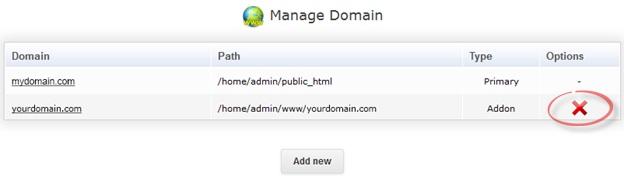 Как удалить домен