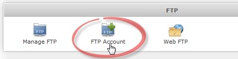 Как добавить FTP аккаунт в Webuzo