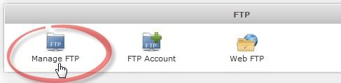 Управление FTP аккаунтом в Webuzo