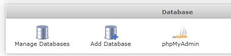 Меню Database