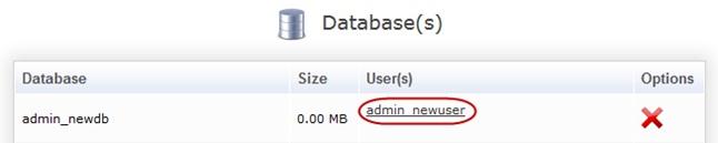Пункт Database