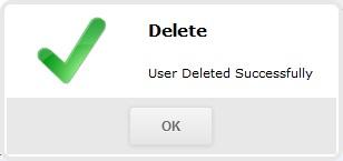 Уведомление об успешном удалении пользователя