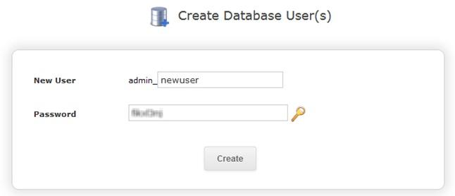 Создание пользователя и добавление его к базе данных