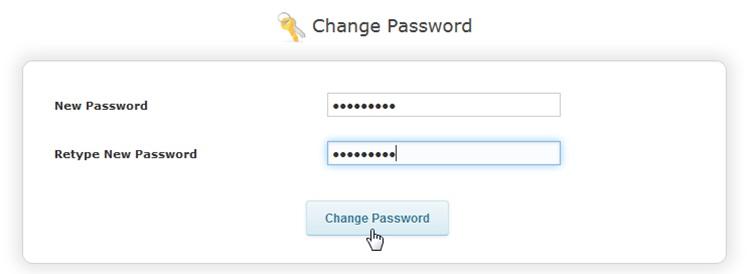Смена пароля для входа в панель управления