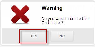 Подтверждение на удаление SSL-сертификата