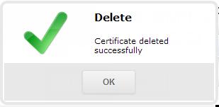 SSL-сертификат успешно удален