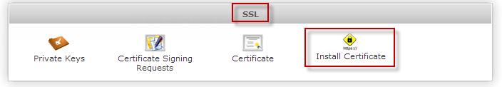 Установка сертификата