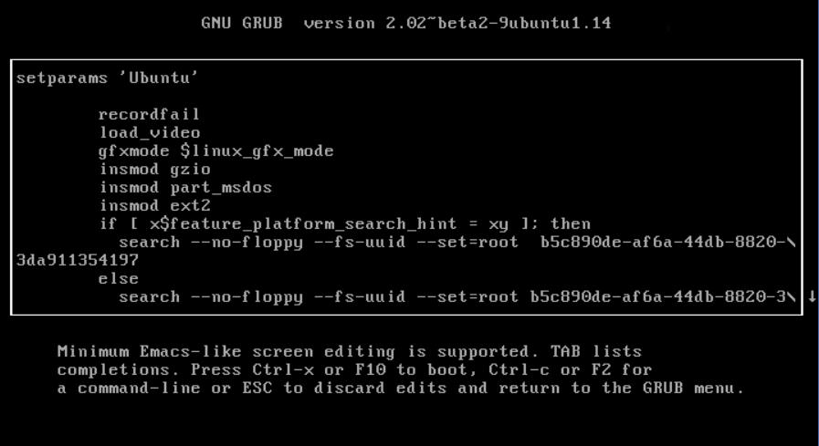 Опции загрузки ядра Ubuntu