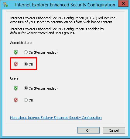 Управление группами пользователей с усиленной безопасностью в IE на Windows Server 2012